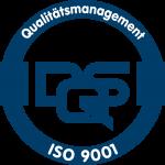 der Erich Bauer Gebäudereinigung GmbH verliehenes Qualitaetsmanagement Siegel ISO 9001
