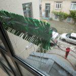 Glas- und Fensterputzer bei der Arbeit